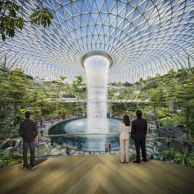 Jewel at Changi Garden. Courtesy of Safdie Architects.