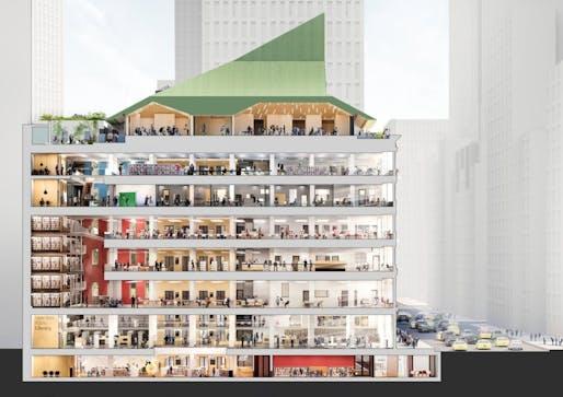Mecanoo's renovation plans for the New York Public Library's Mid-Manhattan branch. Image credit: Mecanoo/Beyer Blinder Belle.