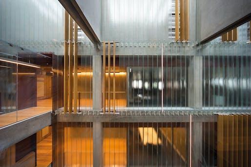 Interior Architecture: Australian Embassy Bangkok by BVN. Photo: John Gollings, courtesy of the Australian Institute of Architects.