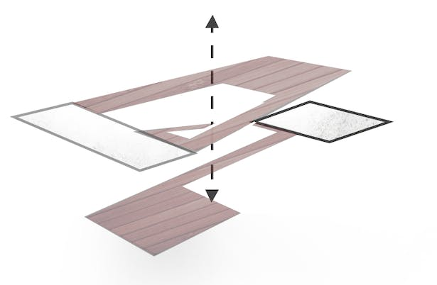 • Split & Connect - 2 Levels Connected by a Conjoining Ramp System