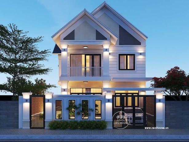 Mẫu thiết kế biệt thự đẹp 2 tầng hiện đại tại Bình Phước thumbnail
