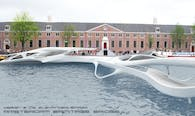 Competition entry for a new Amsterdam Footbridge