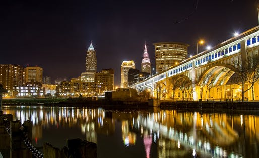 """Cleveland, city of light, city of magic"" as Randy Newman described it in a song about the Cuyahoga River bursting into flame due to pollution in 1969. Image: Carlos Javier Photography via Flickr"