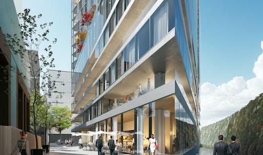 WAA begin construction on the Van der Valk Hotel in Amsterdam's Zuidas District