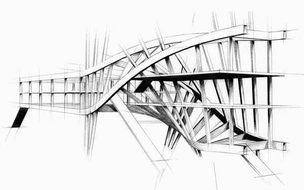 intertwined steel architecture