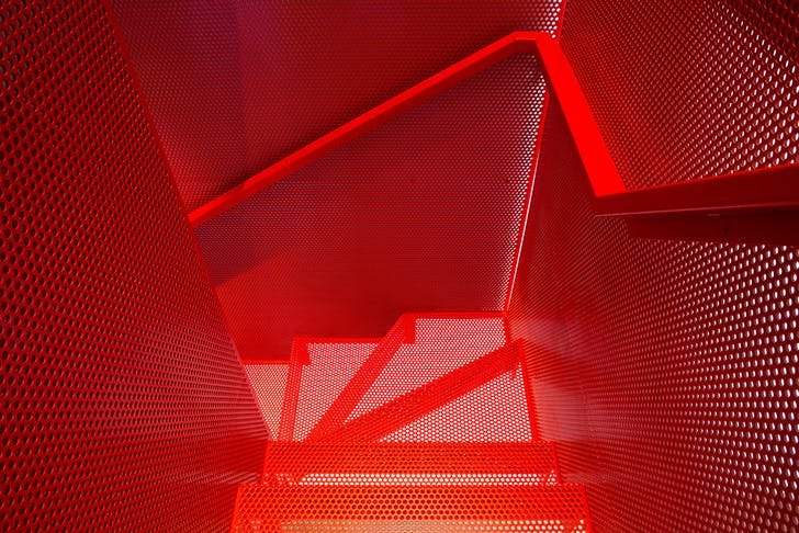 Do-Ho Suh Staircase III inspired staircase, London. Diapo and Webb Yates Engineers © Agnese Sanvito