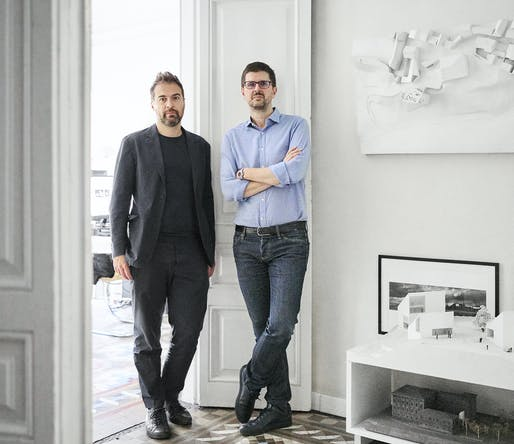 Fabrizio Barozzi and Alberto Veiga of Estudio Barozzi Veiga. Image courtesy of Oolite Arts.