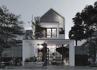 Mẫu thiết kế nhà phố 2 tầng hiện đại đẹp tại Bình Thuận