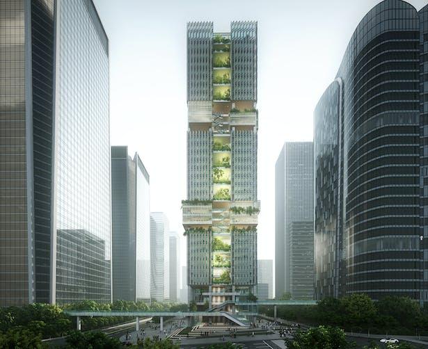 Shenzhen Transsion Tower, Image by Aedas