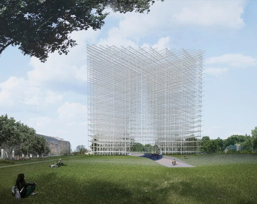 The Nebula Tower by Qinrong Lui an dRuize Li. Image courtesy of UCSV competition