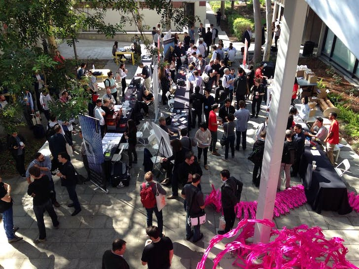 ACADIA crowd on USC campus. Photo via facebook.com/ACADIAconference.