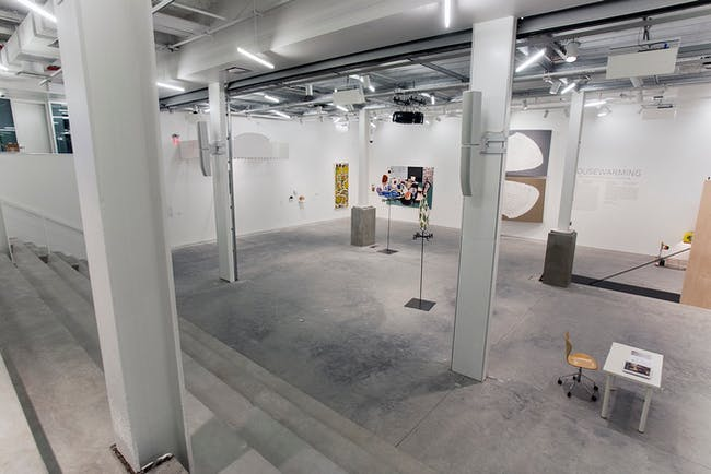View of the gallery from The Stoop. Photo by Jenna Salvagin, courtesy of LEESER.