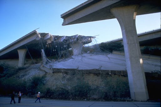 View of damage following the 1994 Northridge earthquake that struck Los Angeles. Image courtesy of FEMA.