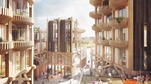 Snøhetta and Heatherwick Design a Timber City for Sidewalk Labs