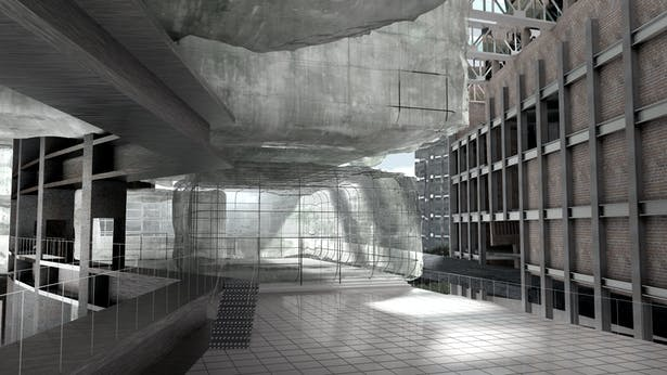 'Brick' Cellular Office (Render)