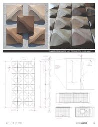 Carved Wood Wall Tiles - 1,400 units (2014)