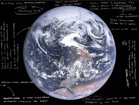 Incomplete annotation of the 'Blue Marble.' Image by author.