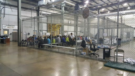 View of the Ursula detention center, one of the many facilities being used to house detained asylum seekers, Image courtesy of US Customs and Border Patrol.
