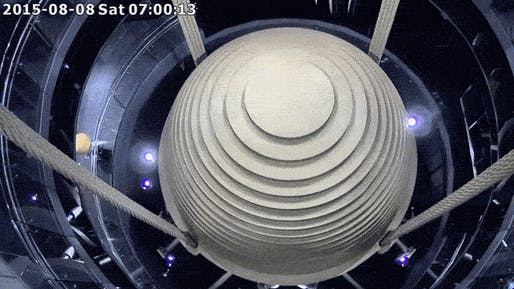 The 728-ton mass damper inside the 1,667-foot tall Taipei 101 broke records during Typhoon Soudelor and swung farther than ever before.