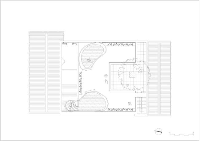 Hutong Bubble 218 - Rooftop Floor Plan. Image courtesy of MAD Architects.