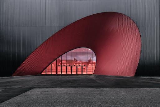 Best Use of Color: Messe Dornbirn Exhibition and Events Halls 09-12, Dornbirn by Marte.Marte Architects. Image: Frame Awards.