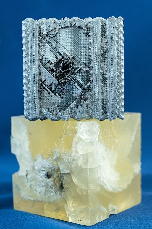 3D printed blocks made at Rice University. Image © Jeff Fitlow/Rice University