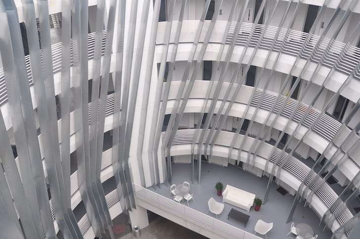 New Carver Apartments Courtyard. Designed by Michael Maltzan Architecture.