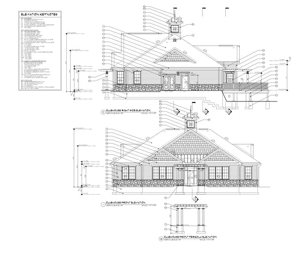 Clubhouse Elevations
