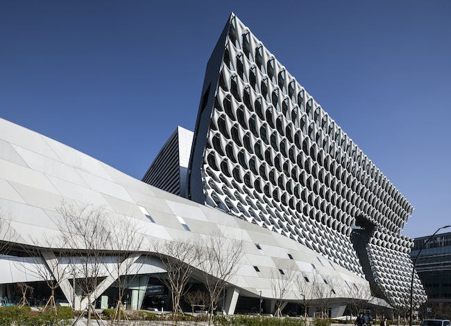 Kolon Group facility by Morphosis, located in Seoul. Image: Jasmine Park, courtesy of Morphosis.