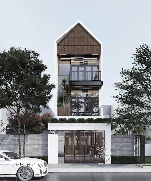 Thiết kế nhà phố mặt tiền 5m. Ảnh 2