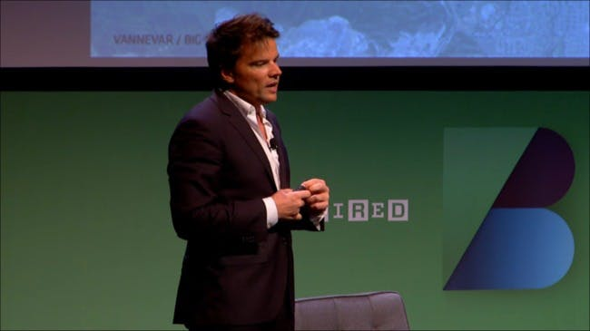 Screenshot of Bjarke Ingels lecturing at the WIRED Business Conference