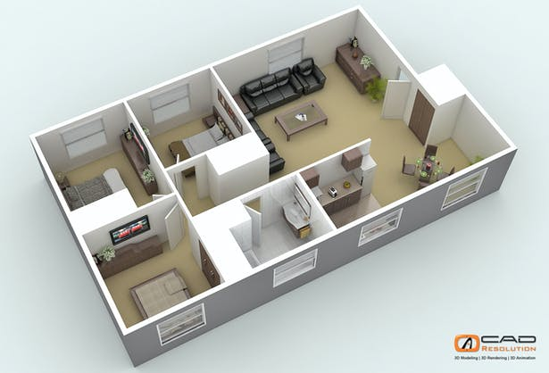 Architectural 3d Floor Plans And 3d House Design Services Projects