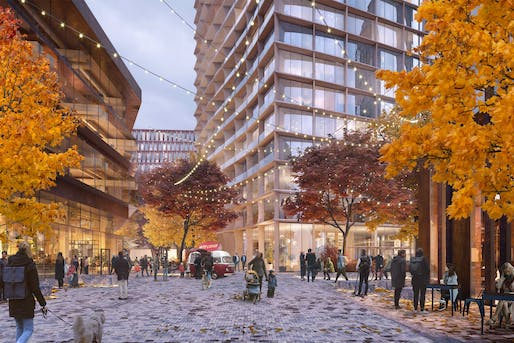 Rendering of the project proposal for Harvard's Enterprise Research Campus. Image courtesy of Tishman Speyer.