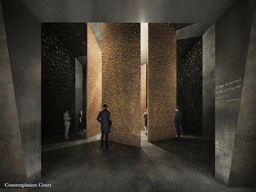 Contemplation Court. © Adjaye Associates and Ron Arad Architects