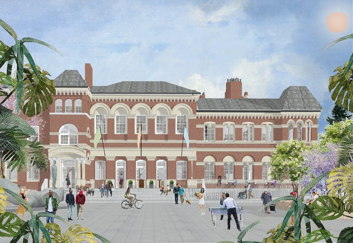 Visualisation of Walworth Town Hall. Image courtesy of Feix & Merlin