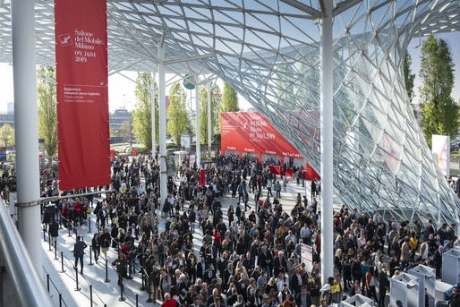 """Salone del Mobile.Milano 2019. Photo via <a href=""""https://twitter.com/iSaloniofficial"""">Twitter</a>."""