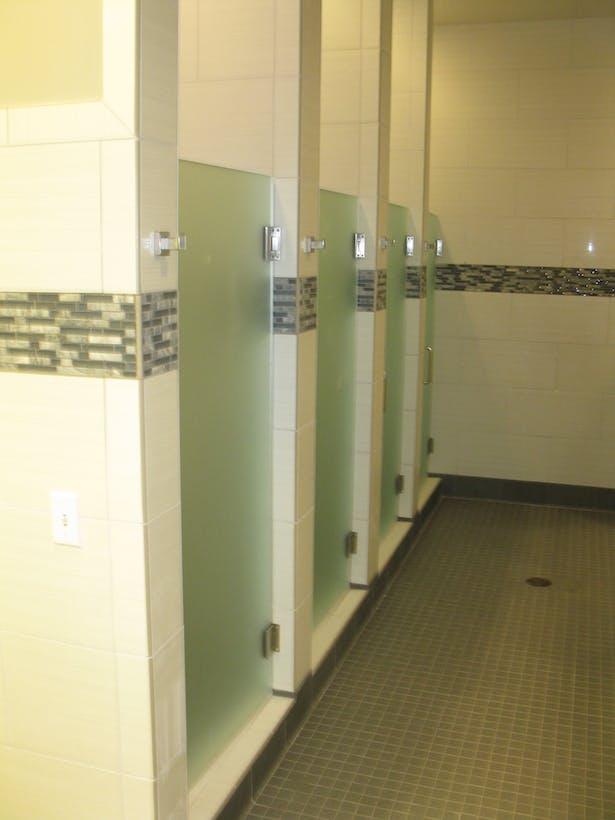 Tile detail at shower rooms.