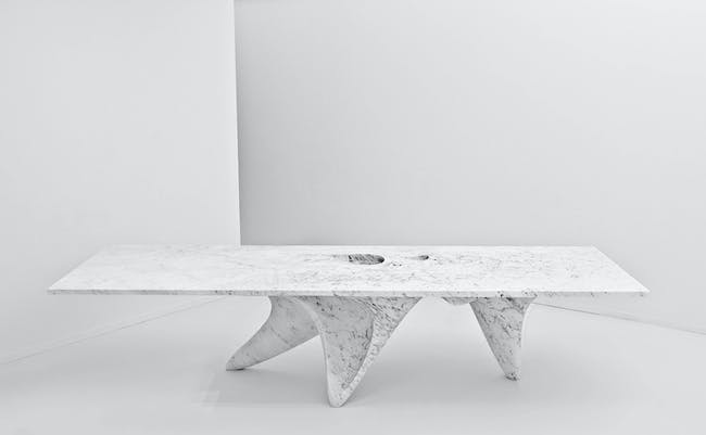 The Luna table by Hadid for Citco. Image by Jacopo Spilimbergo via ZHA.