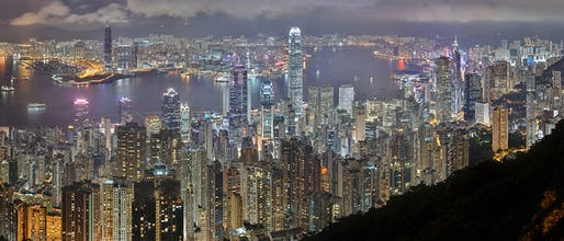 Hong Kong is growing, literally. Image courtesy of Wikimedia user Base 64.