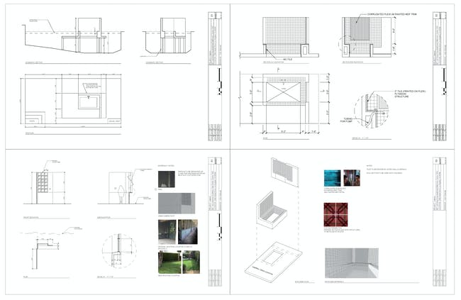 Set Design drawings for Capture, directed by Georgia Lee, Production Design: LA Unit by Colin Sieburgh. Courtesy of Colin Sieburgh.