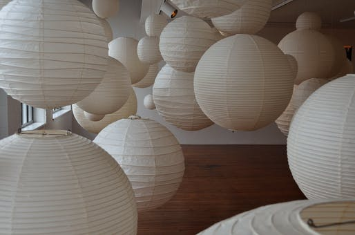 Light sculptures by Isamu Noguchi. Image courtesy of Wikimedia user Torstenkunz-Germany.