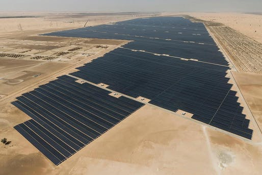 The Noor Abu Dhabi solar plant has a reported capacity of 1.177 GW. Image: Emirates Water and Electricity Company (EWEC)/Abu Dhabi Media Office