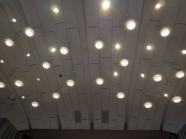 Auditorium lights at Jyväskylä University