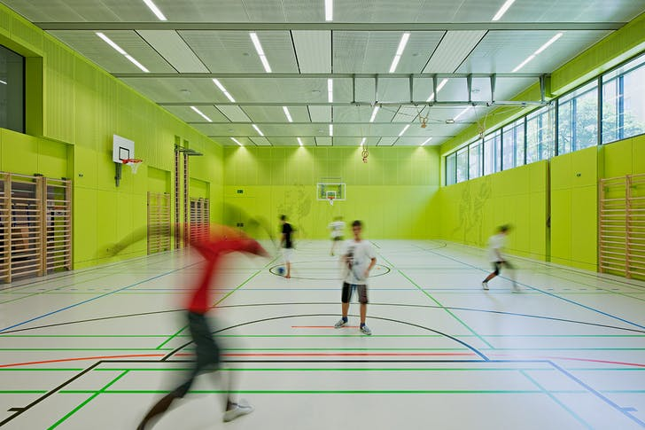Gym hall (Photo: Hertha Hurnaus)