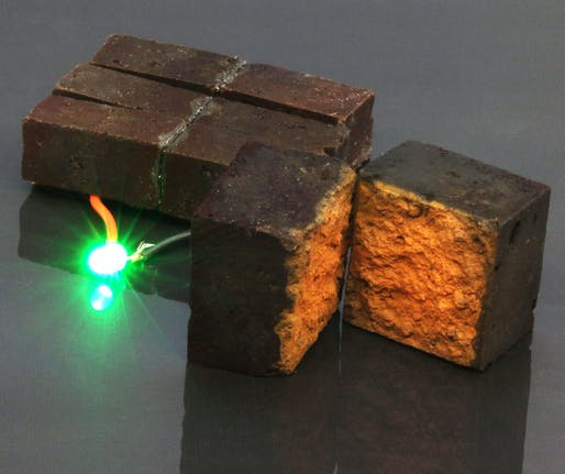 "Chemists in Arts & Sciences have developed a method to make or modify ""smart bricks"" that can store energy until required for powering devices. (Image: D'Arcy laboratory, Washington University in St. Louis)"