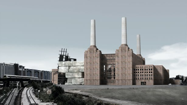 South View from Kirtling Street (Render)