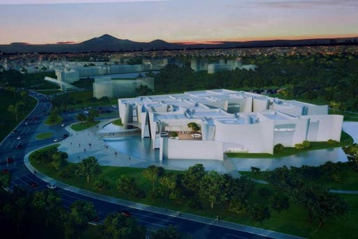 The proposal for the 17,000 sq. m International Baroque Museum includes 11 exhibition halls, an auditorium, conservation and art history workshops, as well as an artificial lake. (via The Art Newspaper)