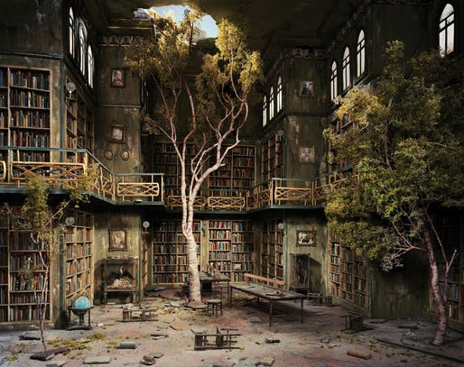 "The Library from ""The City"" series. Image: Lori Nix."