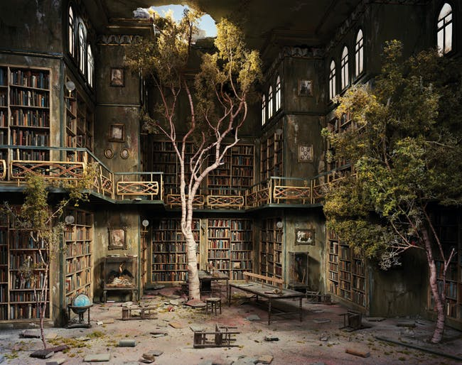 The Library from 'The City' series. Image: Lori Nix.