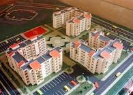 Project: 150 Social Flats: (Médéa - Algeria - 1994):